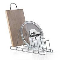 Держатель для крышек и досок кухонных настольный 34х15х18 см. белый METALTEX (361006)