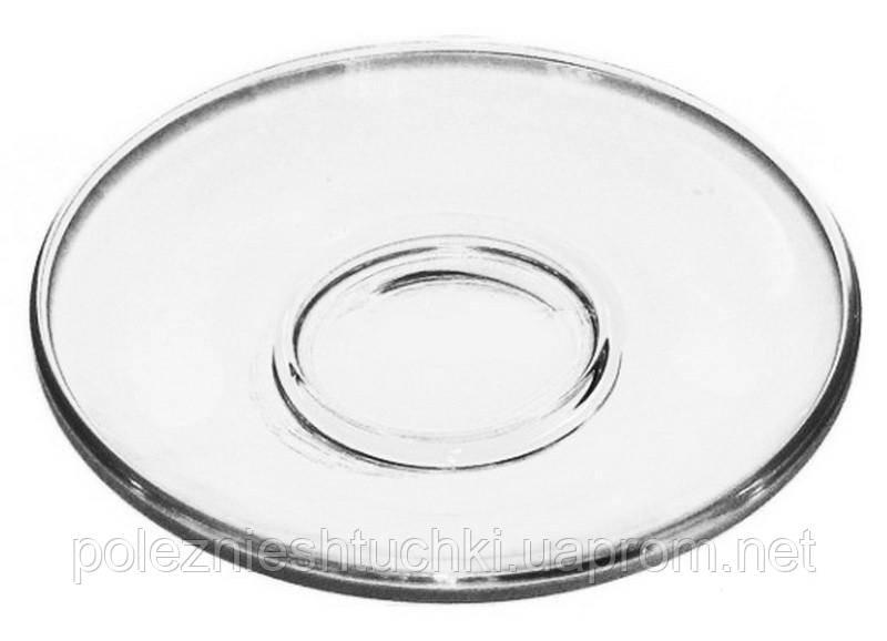 Блюдце скляне прозоре Гламур 13 див. (08с1349) (80000051)