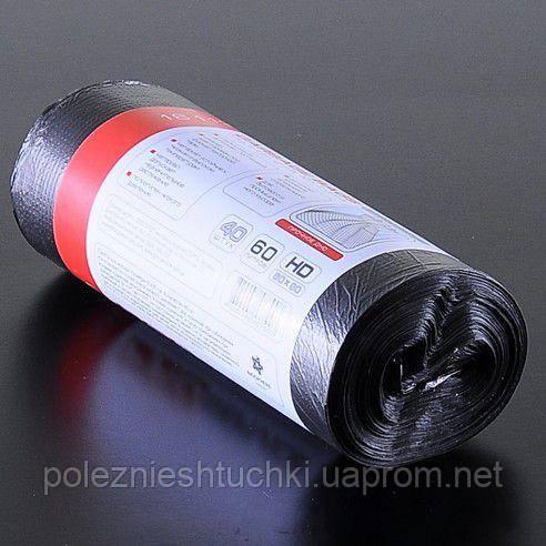 Мішки для сміття чорні HD 60л 40 шт/рул PRO