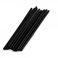 Соломка для фреша черная 6 мм., 200 мм. 500 шт/уп