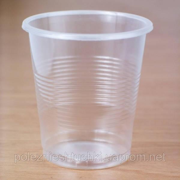 Стакан одноразовый 100 мл., 100 шт. пластиковый, прозрачный