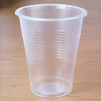 Стакан одноразовий 200 мл, 100 шт. пластиковий, прозорий