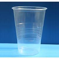 Стакан одноразовий 500 мл, 50 шт. пластиковий, прозорий