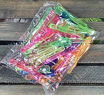 Ложка для мороженого одноразовая 9 см., 100 шт. стеклоподобная, разноцветные