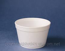 Контейнер для первых блюд/супа 500 мл 25 шт из вспененного полистирола, белая (Крышка 45313, 45316,