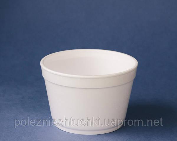 Ємність одноразова супная 500 мл, 25 шт/уп зі спіненого полістиролу, біла (Кришка 45313, 45316,