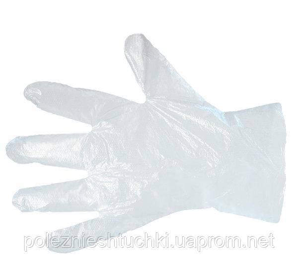 Перчатки полиэтиленовые на картоне (РЕ) 100шт/уп