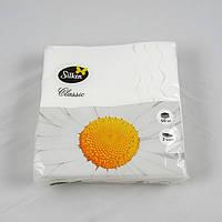 Серветка паперова 2-х шарова 33х33 див., 50 шт/уп біла Silpak