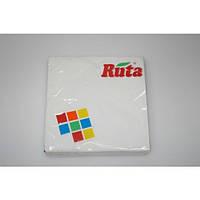 Салфетка бумажная 3-х слойная 33х33 см., 20 шт/уп белая