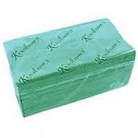 Рушник паперовий зелене 1 шар ZZ додавання 200 шт/уп Кохавинка