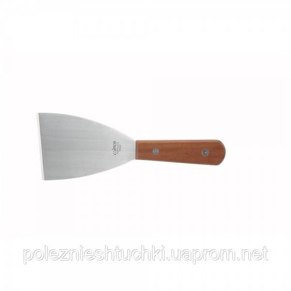 Шпатель кухонний 10х7,5 див. Winco, з дерев'яною ручкою (1123)