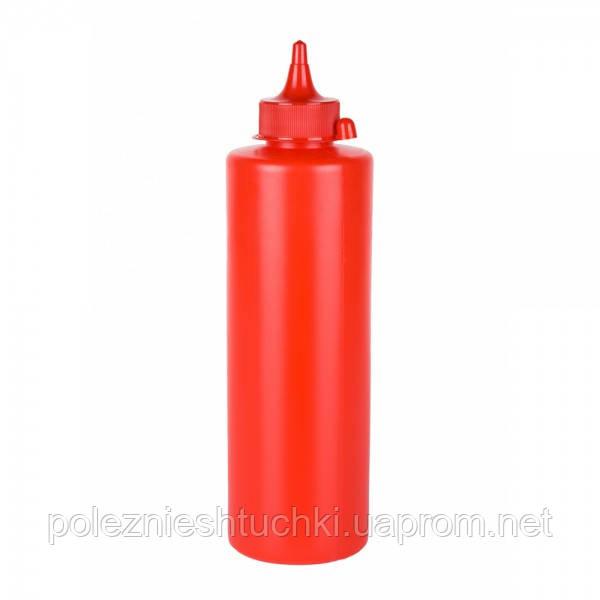 Дозатор-Диспенсер для соусов (кетчупа) 720 мл. красный Winco