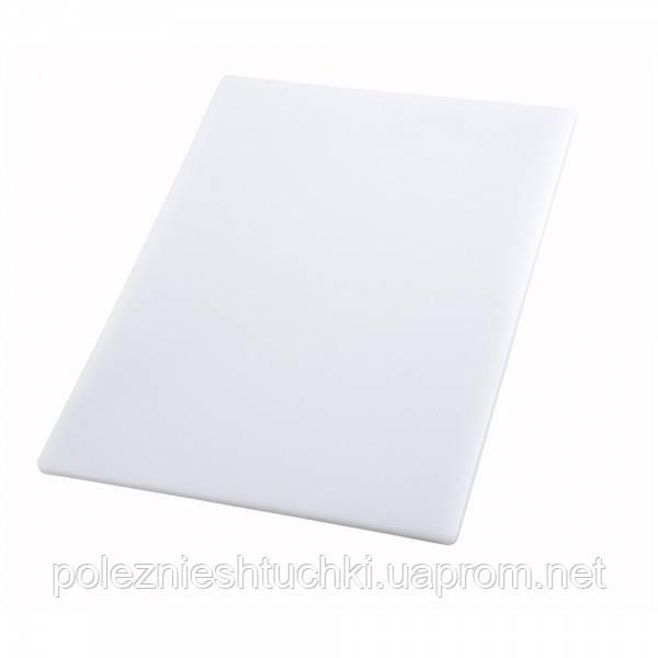 Доска разделочная 45х30х1,25 см. Winco, пластиковая белая (1178)