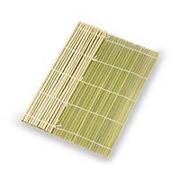 Коврик бамбуковый для роллов 24х24 см., ламели плоские (Макису)
