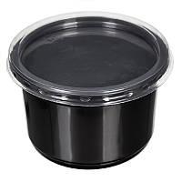 Контейнер для первых блюд/супа 500 мл., 50 шт/уп полипропиленовая с крышкой, черная