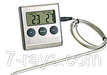 Термометр с зондом и таймером кухонный +300 ºС Hendi