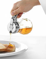 Диспенсер кухонный для меда-сиропа 200 мл., 8x11,5 см. стеклянный Hendi, фото 1