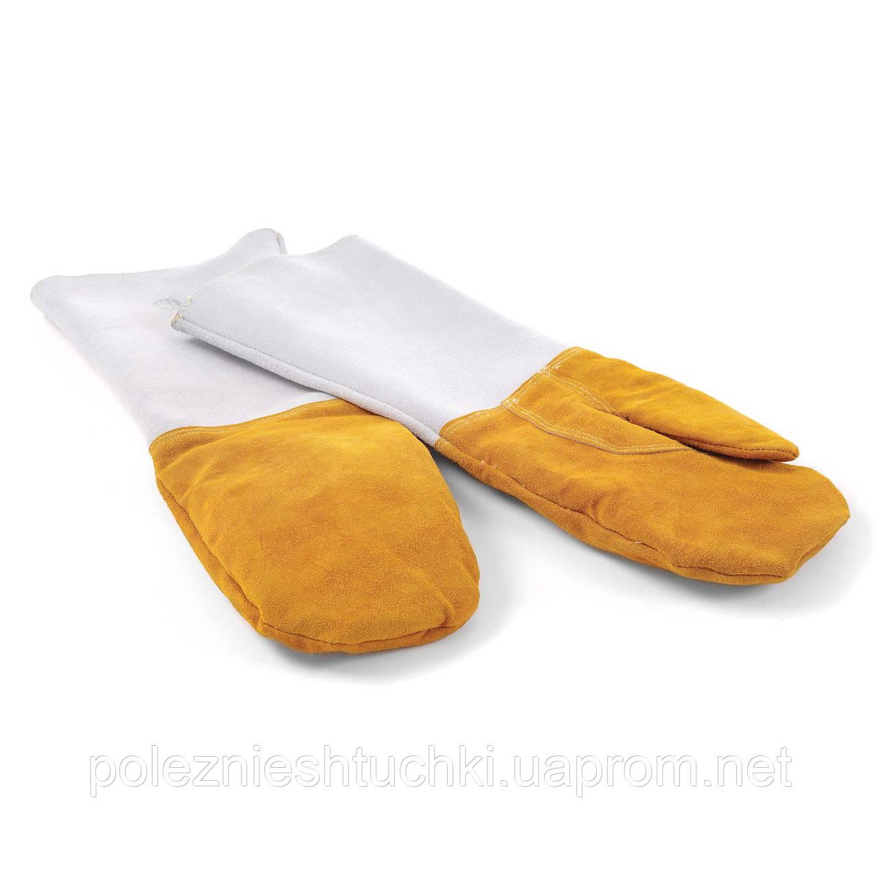 Рукавицы (перчатки) пекарские, набор 2 шт, 46см, кожаные, Hendi