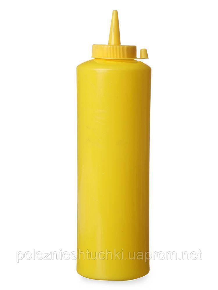 Дозатор-Диспенсер для соусов (горчицы) 700 мл. желтый Kitchen Line