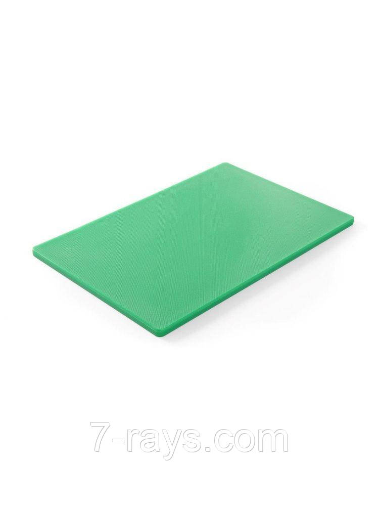 Дошка обробна 45х30х1,27 див. Hendi, поліетиленова зелена (825549)