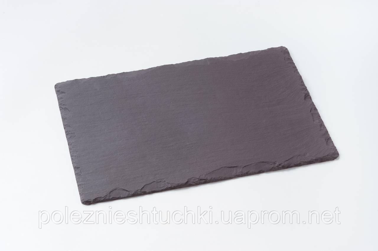 Блюдо прямоугольное 20х9,3 см. сланцевое, черное