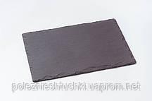 Блюдо прямоугольное 30х20 см. сланцевое, черное