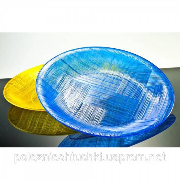 Тарілка одноразова кругла 20 див. 120 шт/ящ стеклоподобная, прозора