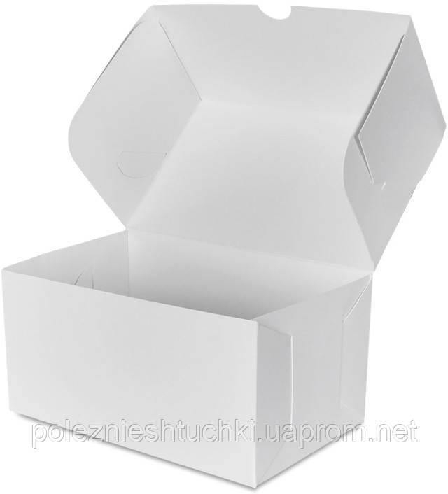 Бокс одноразовий для десертів 16х10х8 див., 100 шт/уп паперовий, білий
