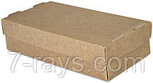 Бокс одноразовый для суши на 2 ролл, 20х10х5 см., 100 шт/уп бумажный с крышкой, крафт