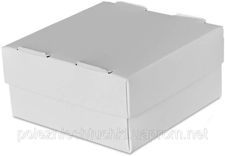 Бокс одноразовый для суши на 1 ролл, 10х10х5 см., 100 шт/уп бумажный с крышкой, белый
