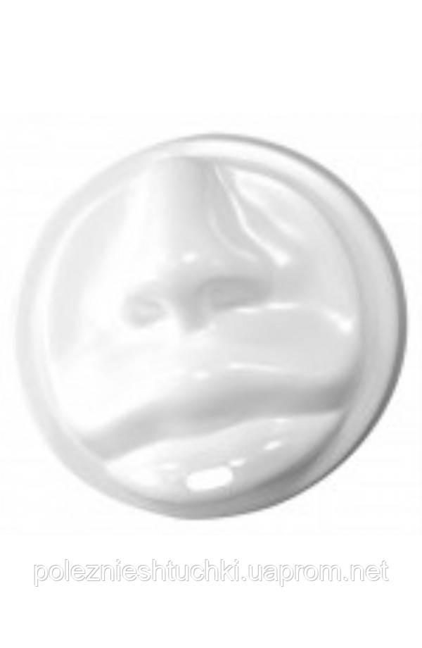 Крышка PS белая в форме губ для бумажных стаканов Ǿ=80мм
