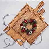 Большая деревянная разделочная доска из дуба, набор из 2 штук Woodstuff Дуб (wds_0124 + wds_0125)