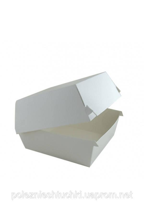 Паперова Коробка під бургер висока Big Size 130*130*100мм біла