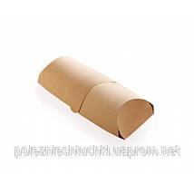 Бумажная упаковка для лаваш-роллов 200х70х55мм (упаковка для шаурмы, буррито, хот-догов) Крафт бумажная 50 шт
