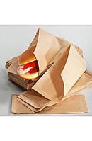 Бумажный пакет уголок для классического хот-дога 200х85мм крафт (014001)