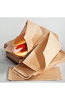 Паперовий пакет куточок для класичного хот-дога 200х85мм крафт (014001)