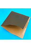 Бумажный пакет уголок для гамбургера 160х170мм черный крафт (014005)