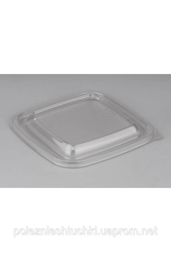 Кришка квадратна для контейнерів 160*160*13мм ПЕТ прозора (015066)
