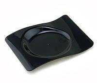 """Форма-тарелочка фуршетная """"Форма"""" 8х6х0,8 см., 10 мл., 50 шт/уп стеклоподобная одноразовая, черная"""