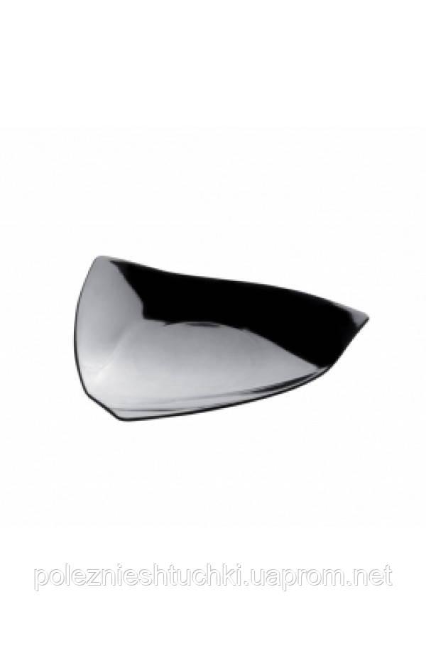 """Форма-тарелочка фуршетная """"Парус"""" 85х85х10 мм., 6 мл., 50 шт/уп черная, стеклопластиковая"""