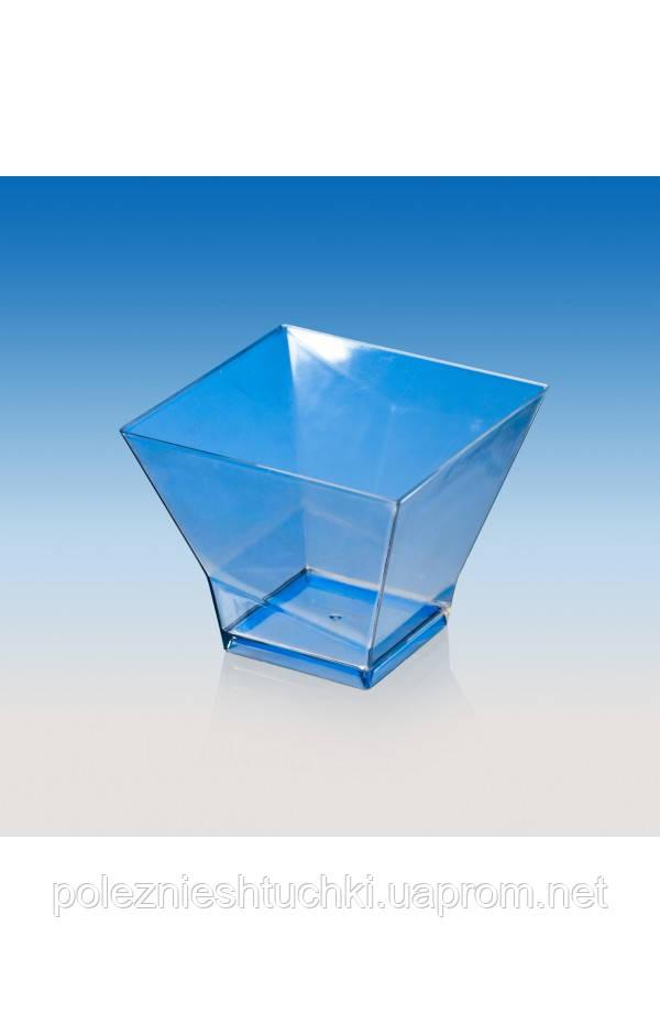 """Пиала-форма фуршетная """"Пагода-120"""" 67х67х53 мм., 120 мл. прозрачная, стеклоподобная"""