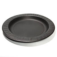 Тарелка из кукурузного крахмала черная Ǿ=180 мм. Биорозлагаемая