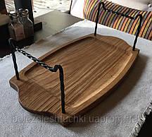 Доска для подачи шашлыка Прямоугольная, деревянная