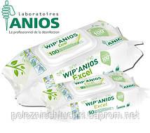 Салфетки дезинфицирующие ВИП'АНИОС Эксель (WIP'ANIOS Excel) пропитанные дезраствором, 100 шт