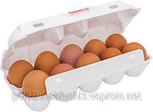 Упаковка для яиц куриных 25x10,5x6,5 см., 100 шт/уп из вспененного полистирола, белая