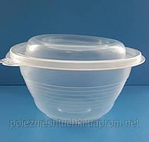 Контейнер для первых блюд/супа 500 мл., 144/70х79 мм. с крышкой, из полипропилена (ПР-МС-500)