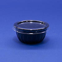 Соусник одноразовий 50 мл, 1785 шт/ящ круглий, з полістиролу, чорний ПС-390Ч