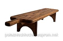 Доска длинная для подачи закусок на подставке 60х18х12 см. деревянная