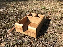 Подставка для специй и салфеток деревянная 21х14 см. , ячейка 6х6 см.