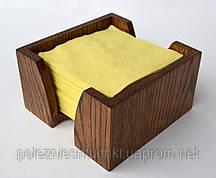Салфетница 15х15х8 см. деревянная, из дуба